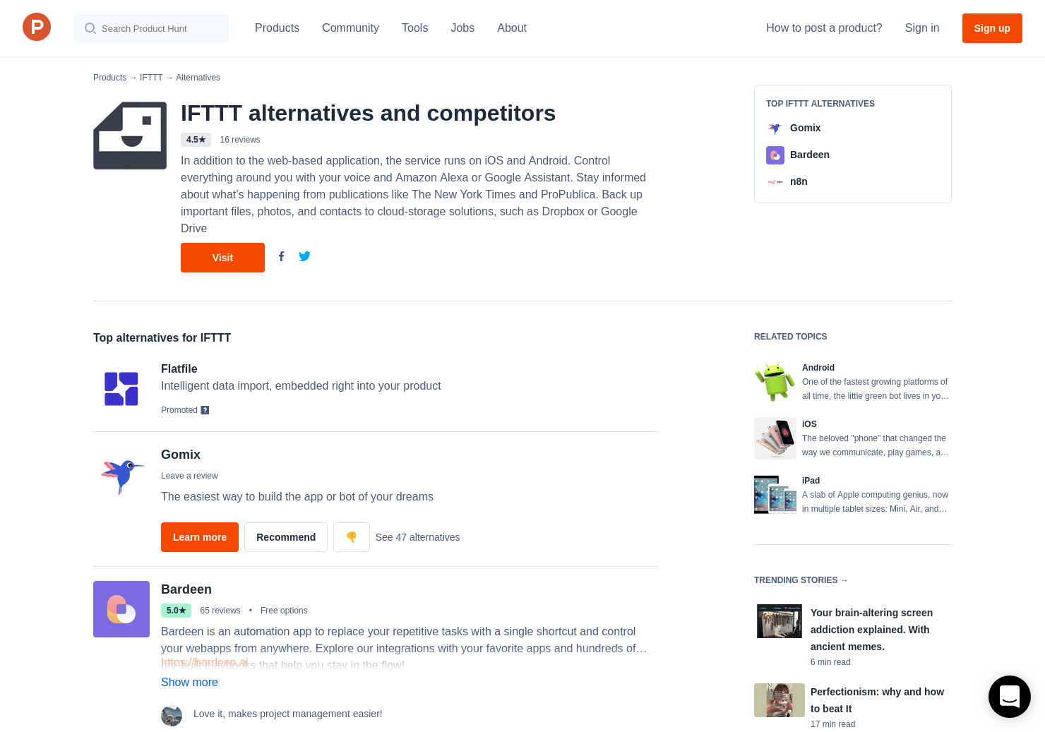 15 Alternatives to IFTTT for Android, iPhone, iPad, Apple