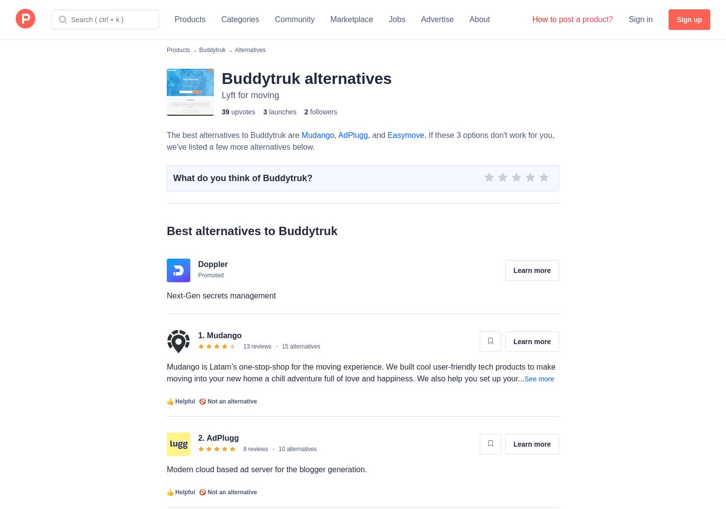 9 Alternatives to Buddytruk   Product Hunt