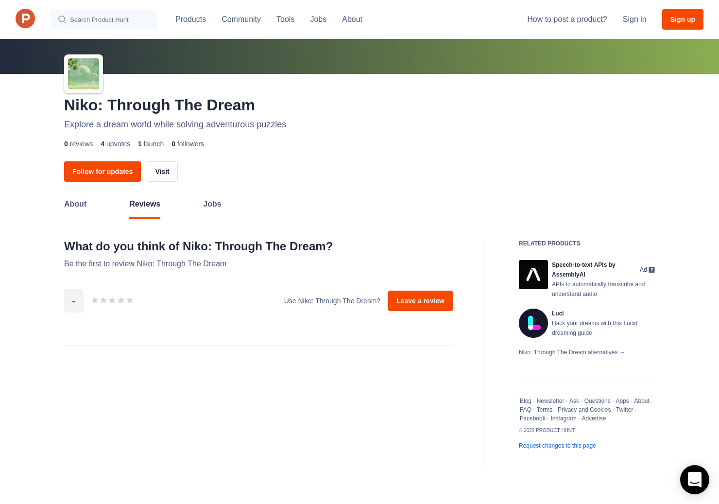 Niko: Through The Dream Reviews - Pros, Cons and Rating | Product Hunt