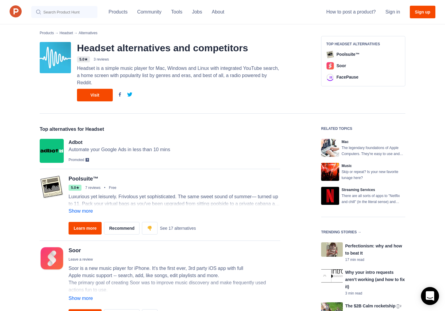 7 Alternatives to Headset for Mac   Product Hunt