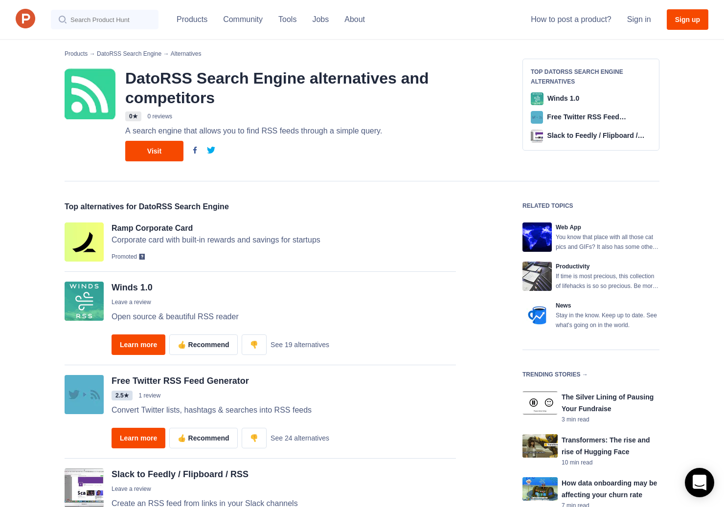 13 Alternatives to Feedi Search Engine | Product Hunt