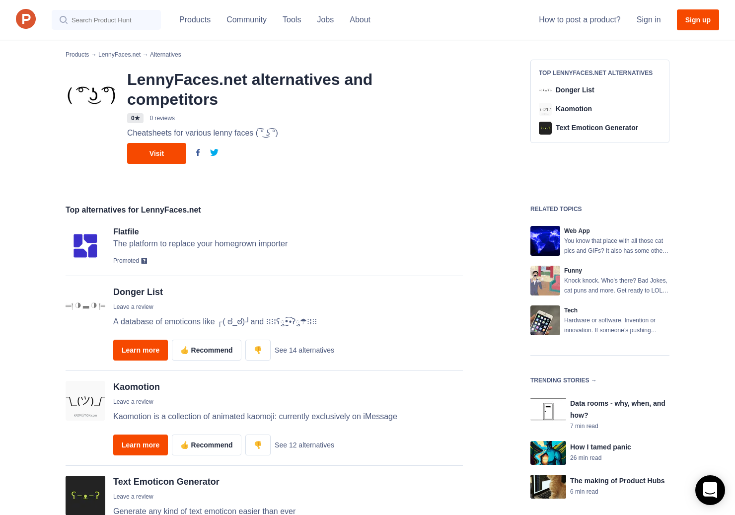 5 Alternatives to LennyFaces net | Product Hunt