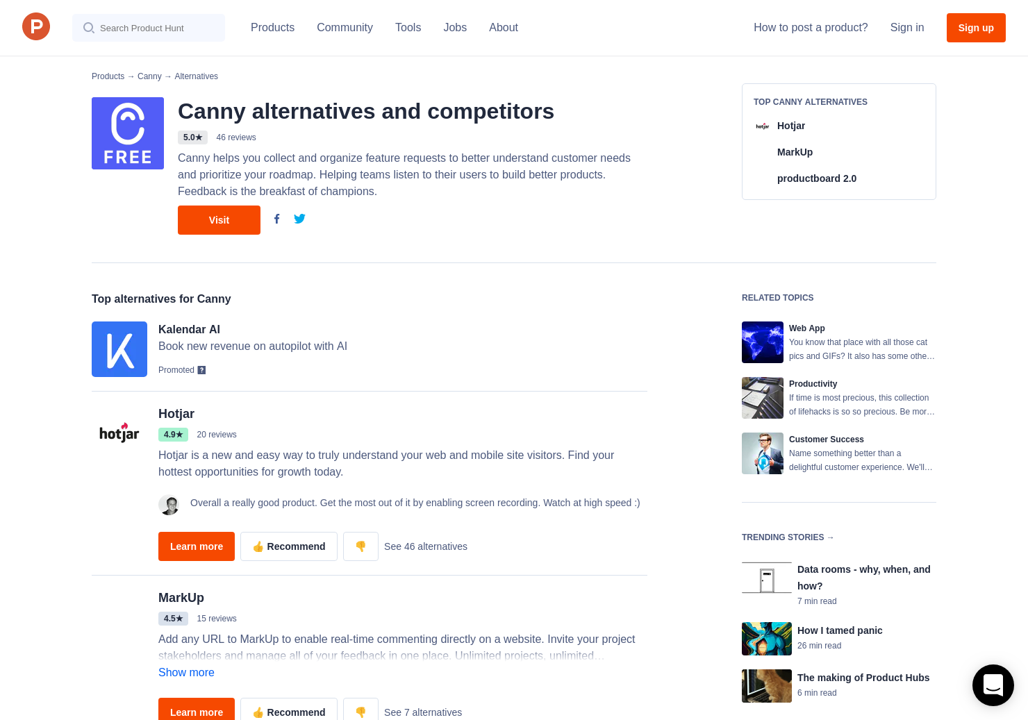 12 Alternatives to Canny | Product Hunt
