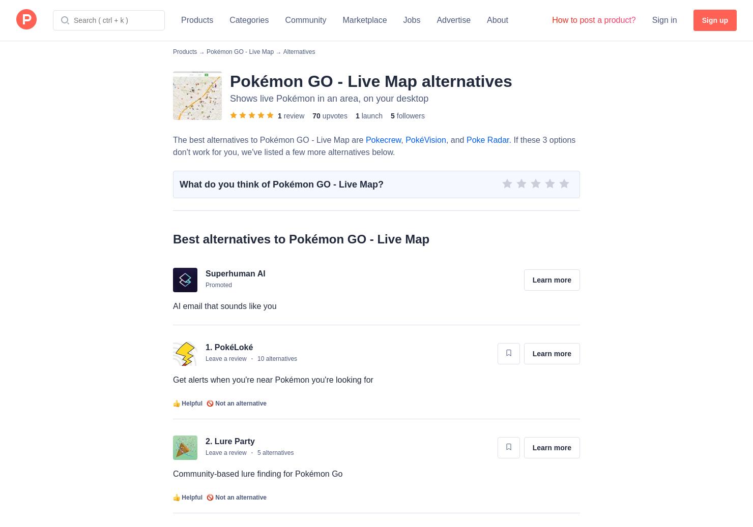 14 Alternatives to Pokémon GO - Live Map for Mac | Product Hunt