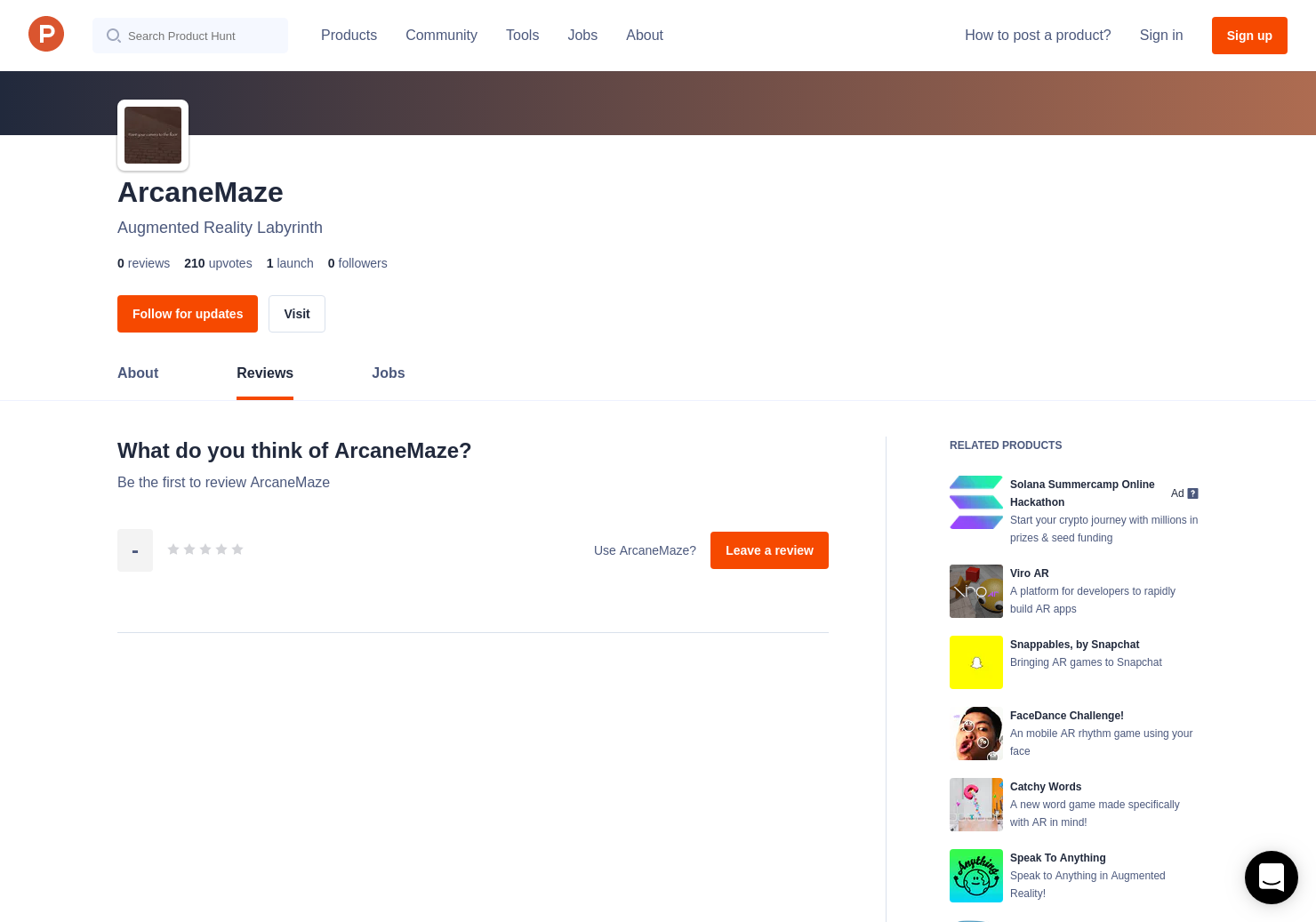 ArcaneMaze Reviews - Pros, Cons and Rating | Product Hunt