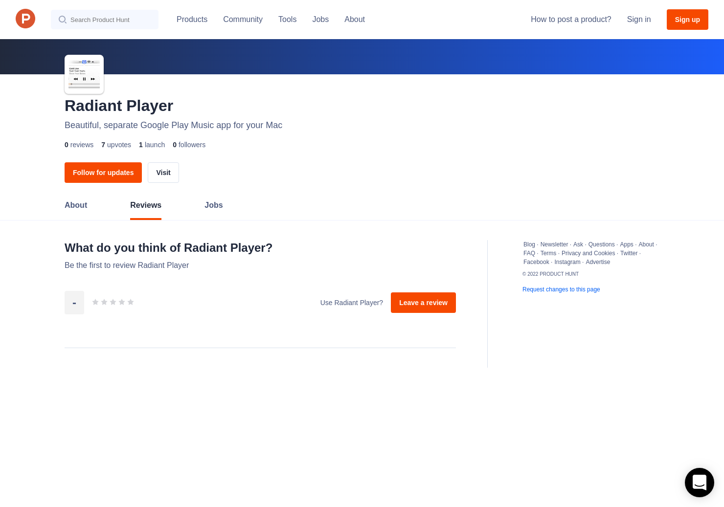 Radiant Player Reviews - Pros, Cons and Rating | Product Hunt