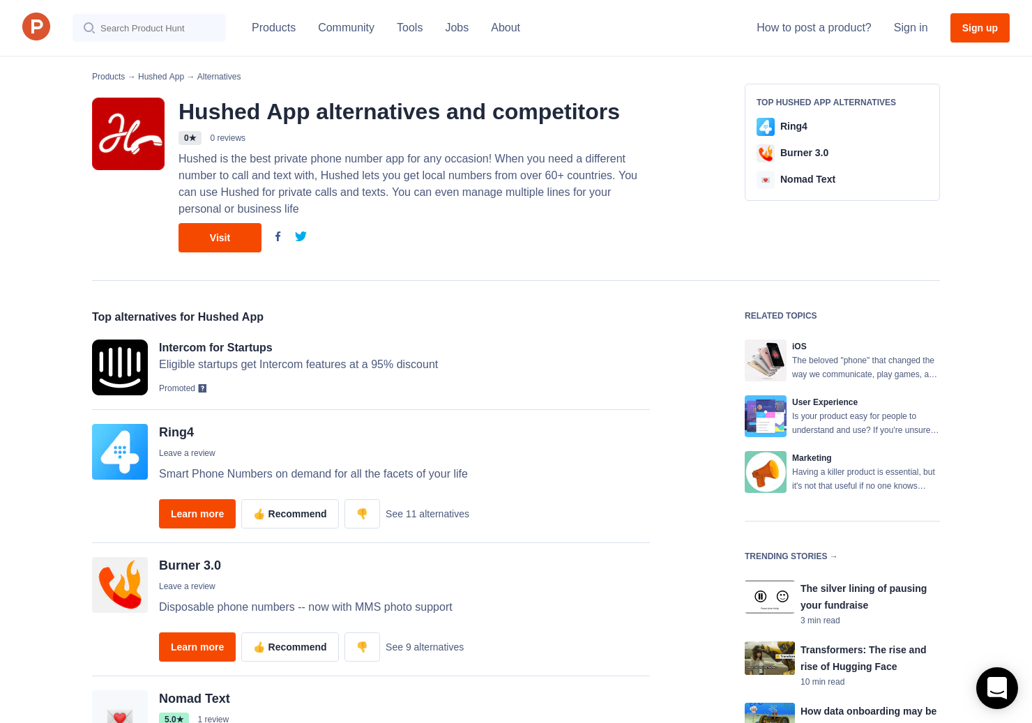 6 Alternatives to Hushed App for iPhone | Product Hunt