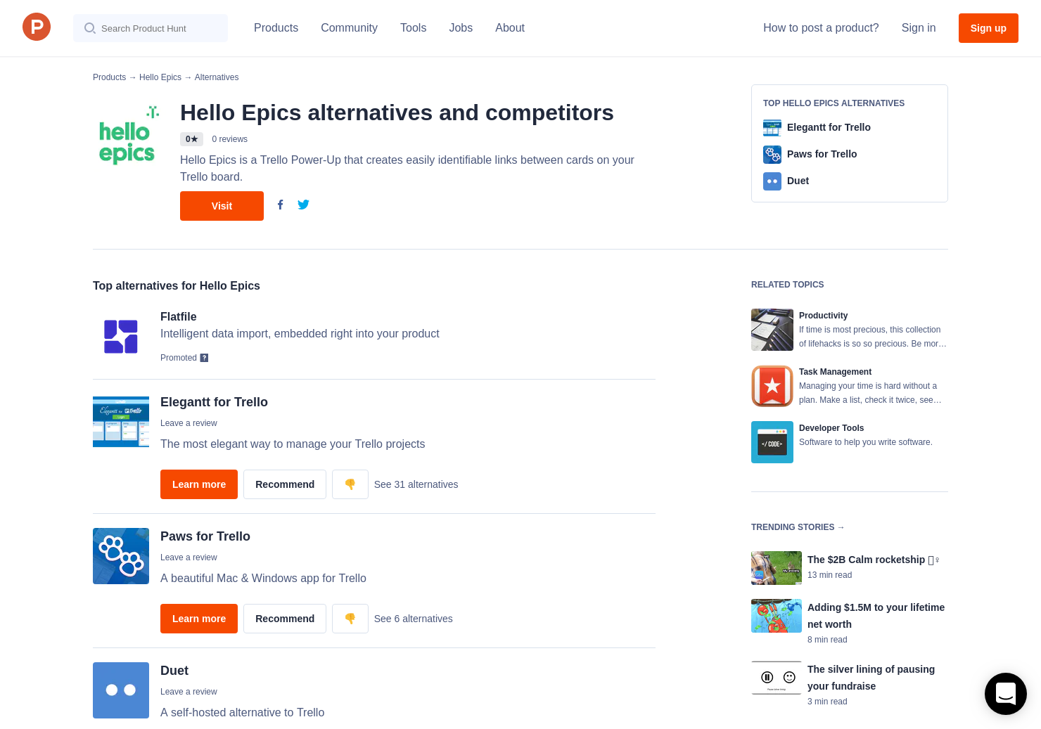 4 Alternatives to Hello Epics for Trello | Product Hunt