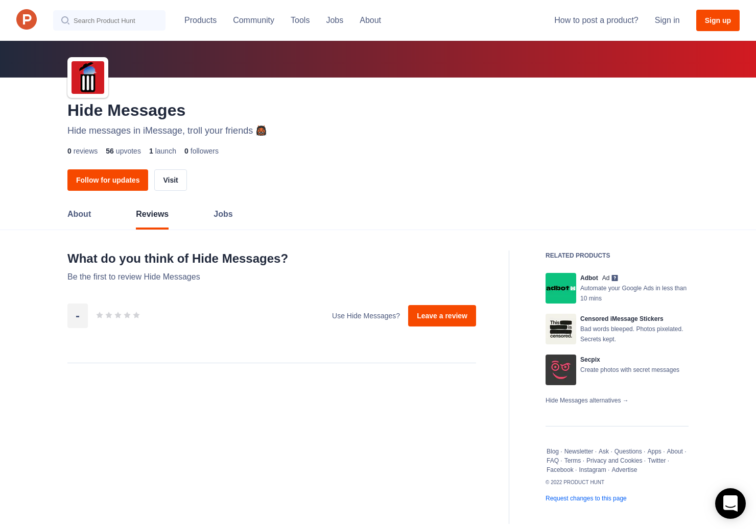 Hide Messages Reviews - Pros, Cons and Rating | Product Hunt