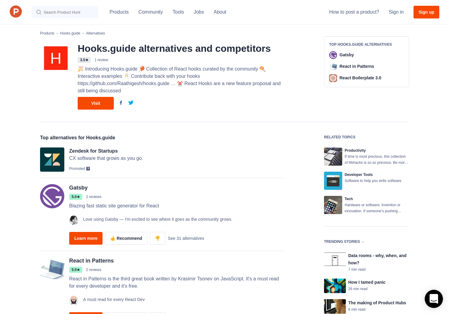 11 Alternatives to Hooks guide | Product Hunt