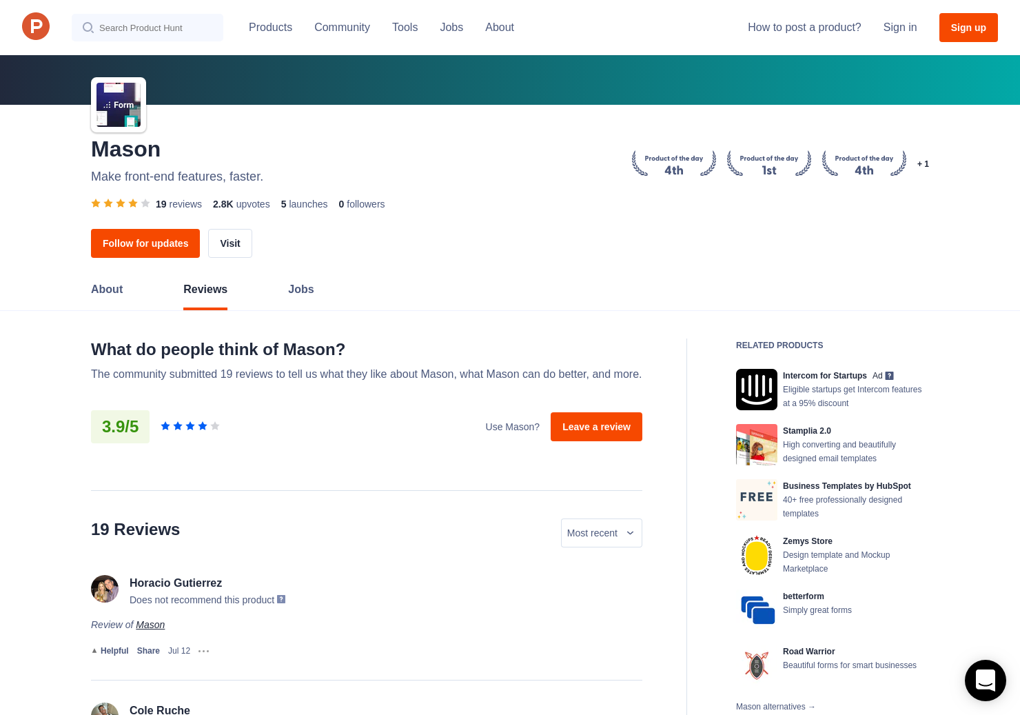 3 Form, by Mason Reviews - Pros, Cons and Rating   Product Hunt