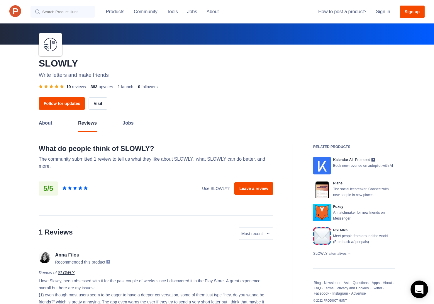8 SLOWLY Reviews - Pros, Cons and Rating | Product Hunt