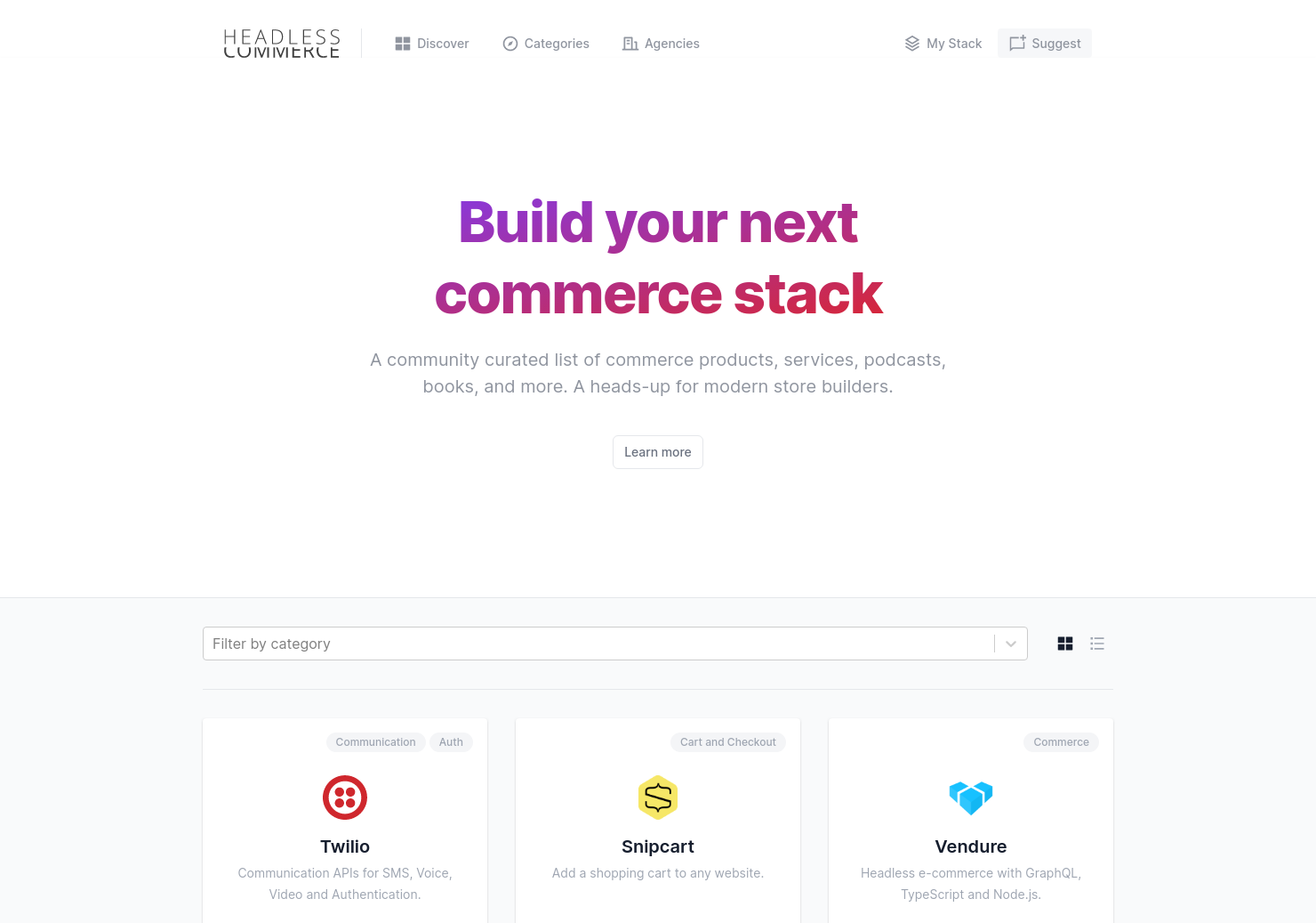 Headless Commerce Resources