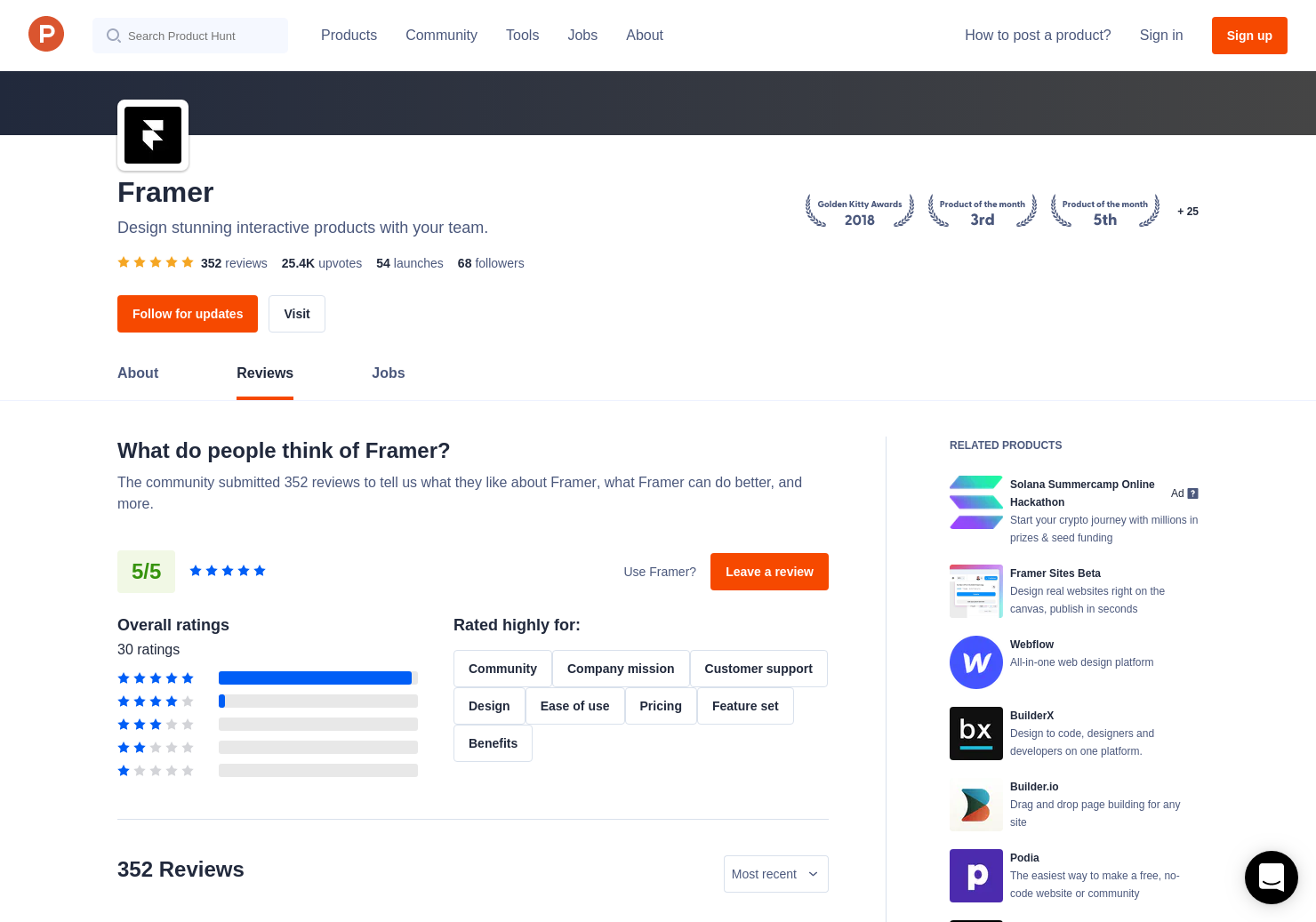 Framer Auto-Code Animation Reviews - Pros, Cons and Rating
