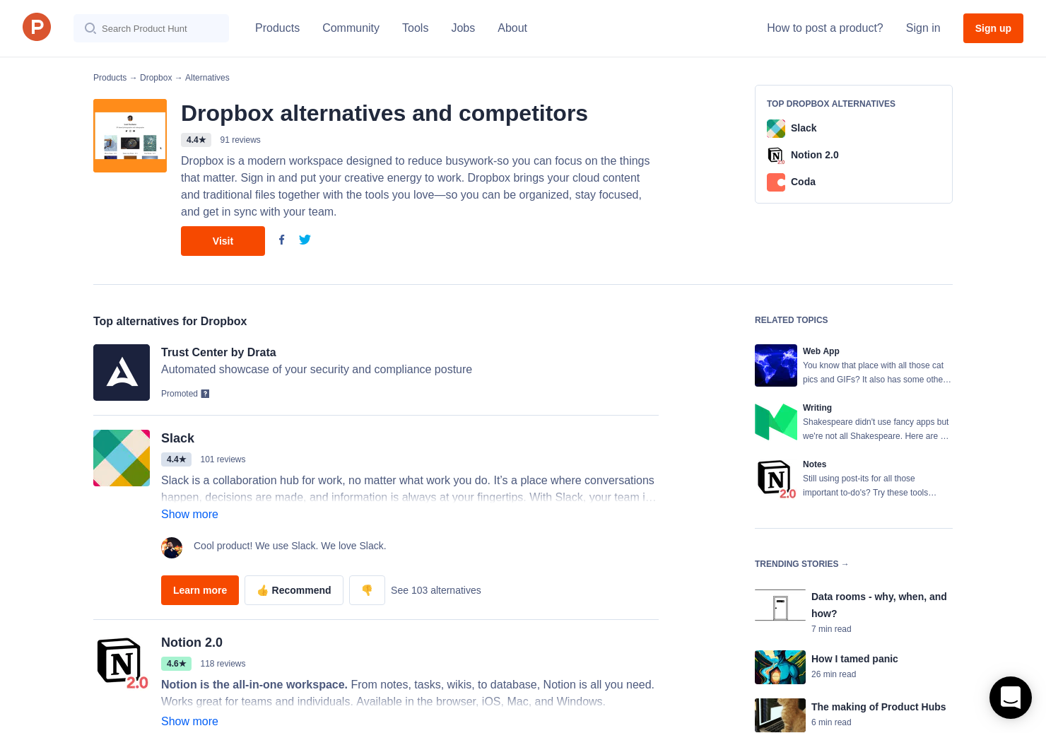 13 Alternatives to Project Infinite by Dropbox | Product Hunt