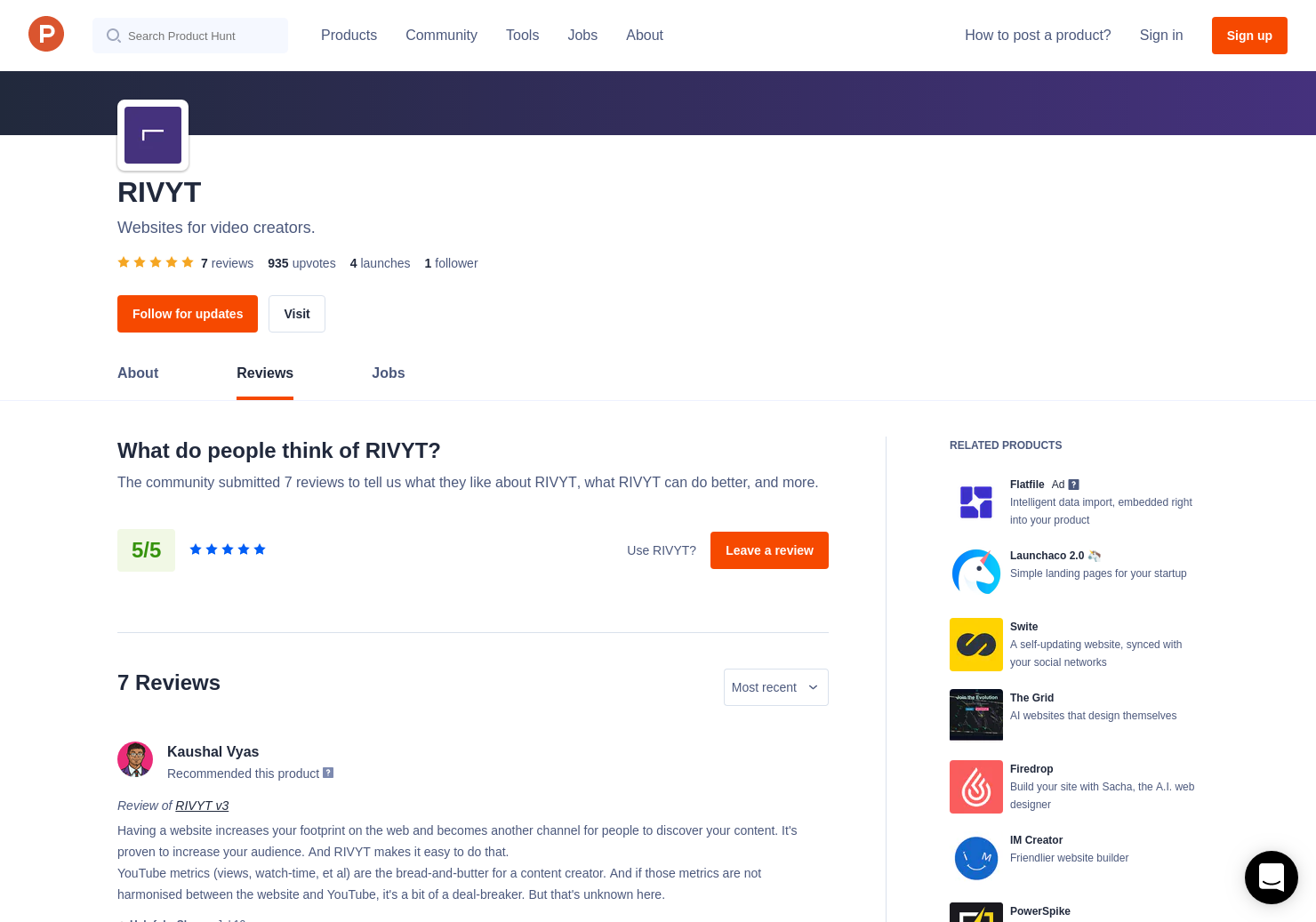 4 RIVYT v3 Reviews - Pros, Cons and Rating   Product Hunt