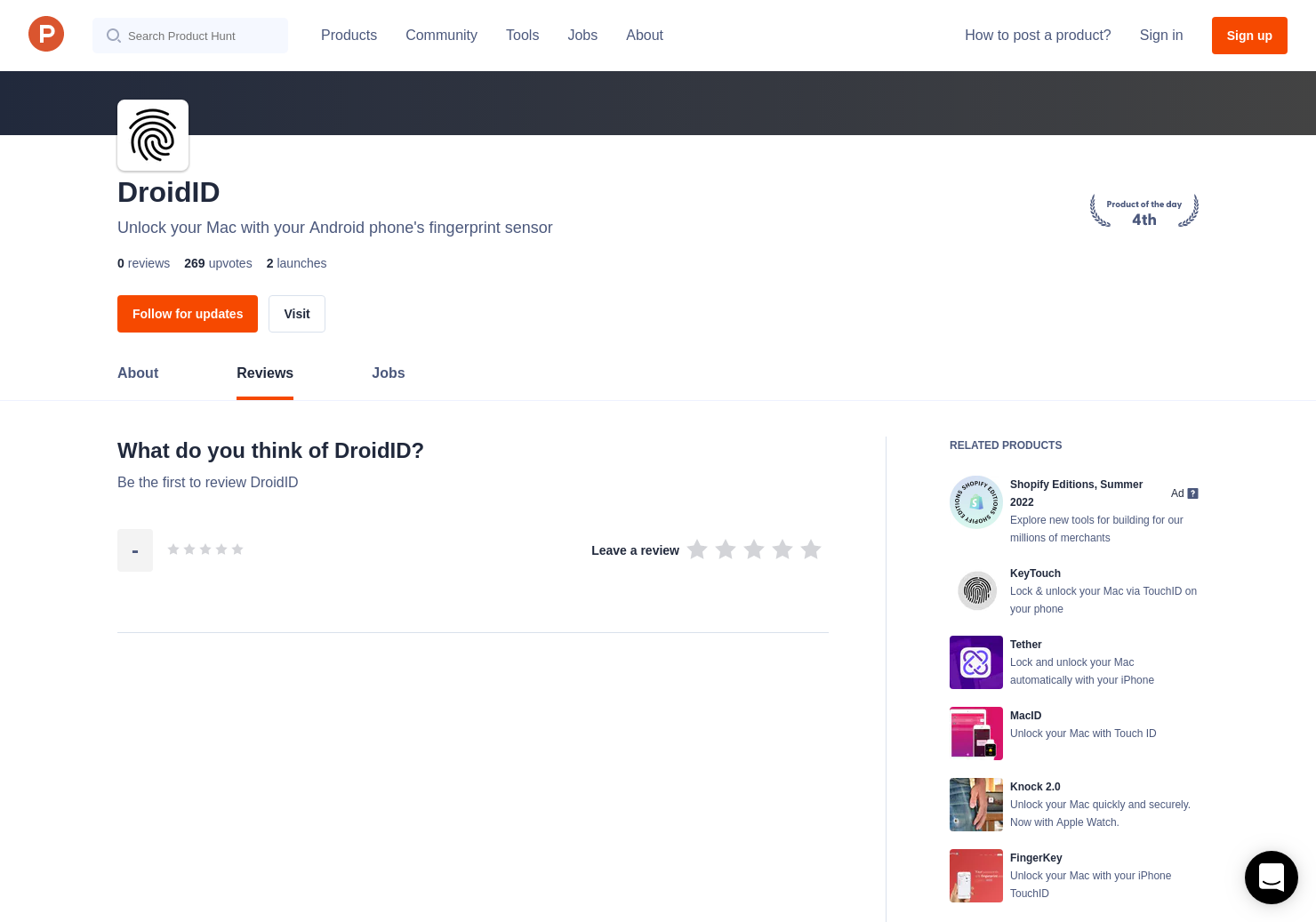DroidID Reviews - Pros, Cons and Rating | Product Hunt