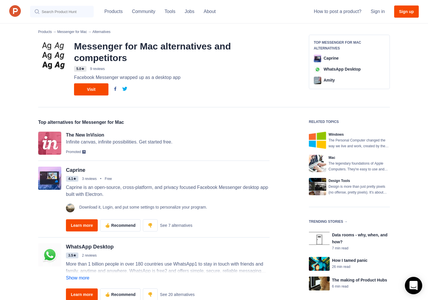 10 Alternatives to Messenger for Mac | Product Hunt