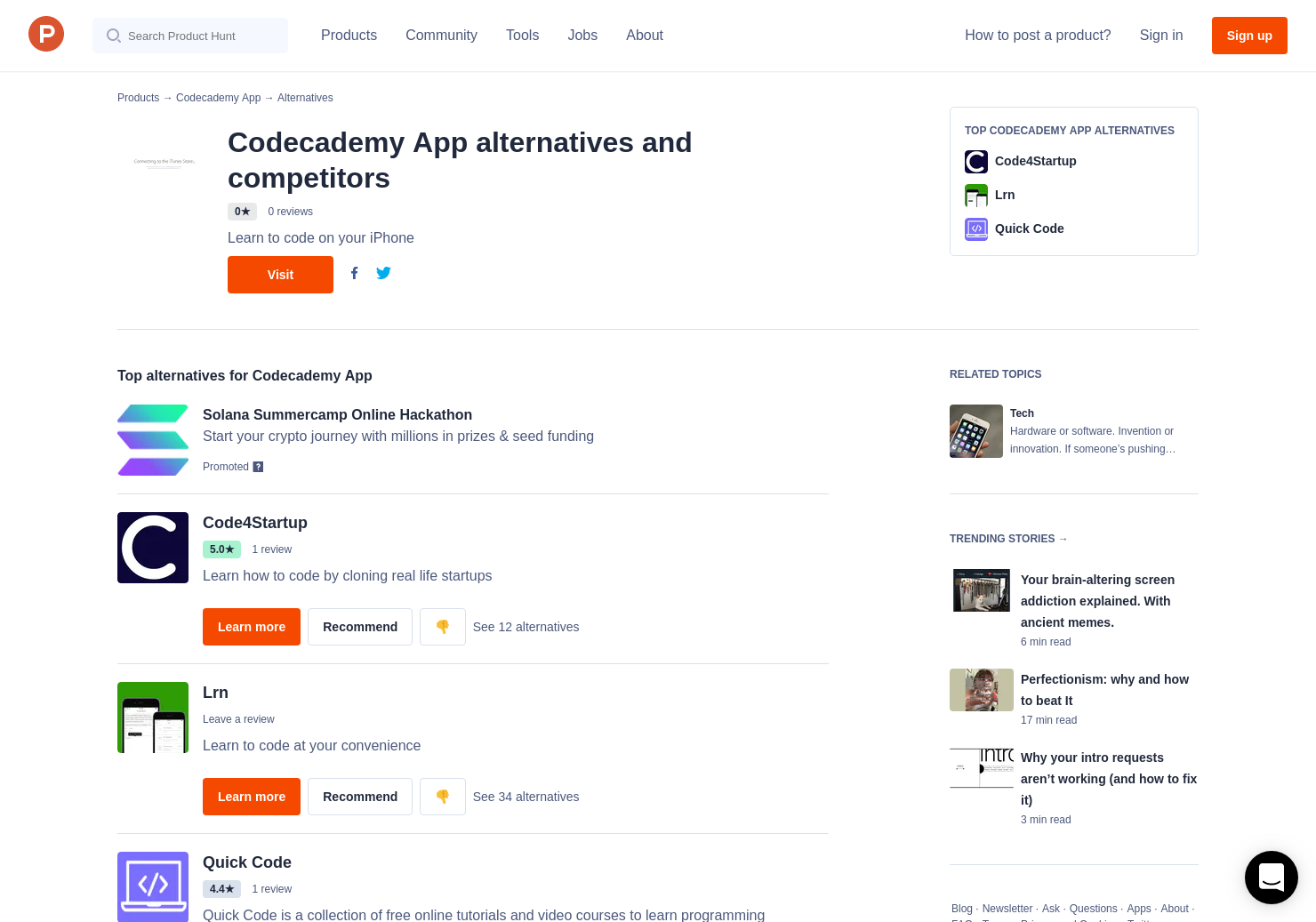 11 Alternatives to Codecademy App | Product Hunt