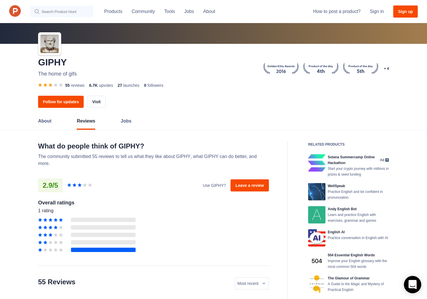 1 GIF MAKER Reviews - Pros, Cons and Rating | Product Hunt