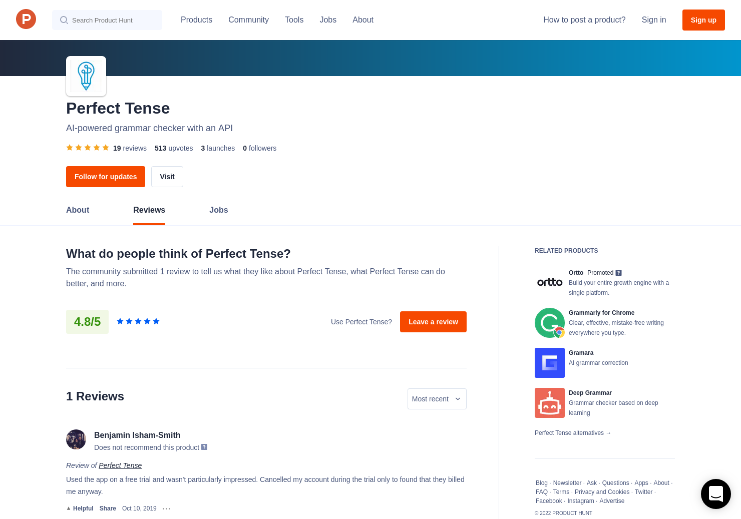 8 Perfect Tense Reviews - Pros, Cons and Rating | Product Hunt