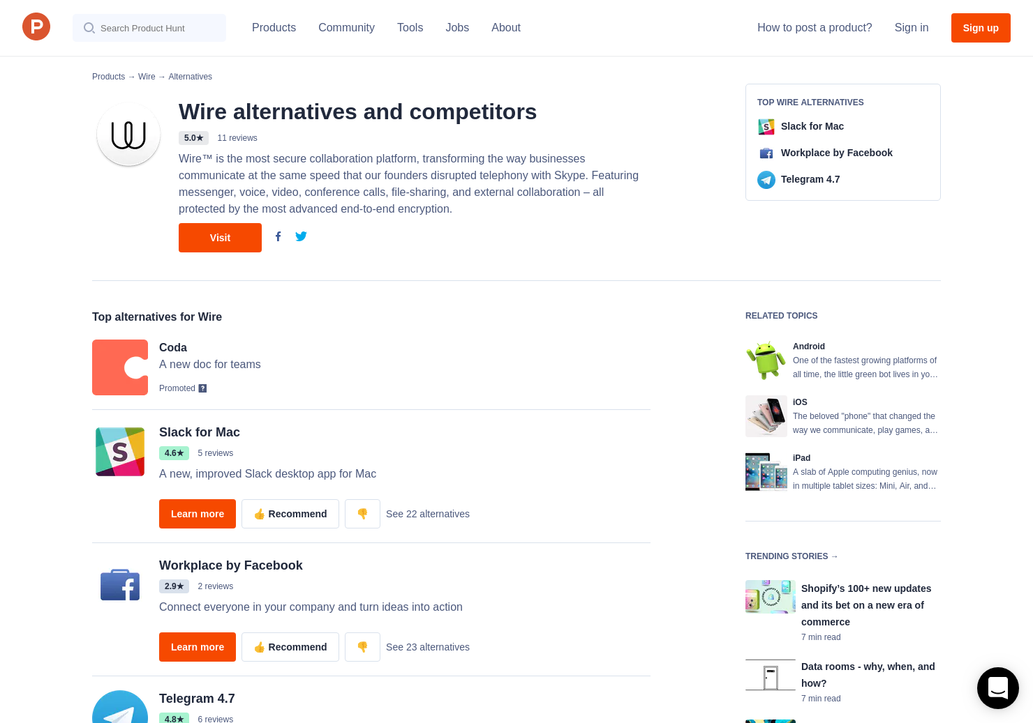 11 Alternatives to Teams for Wire   Product Hunt