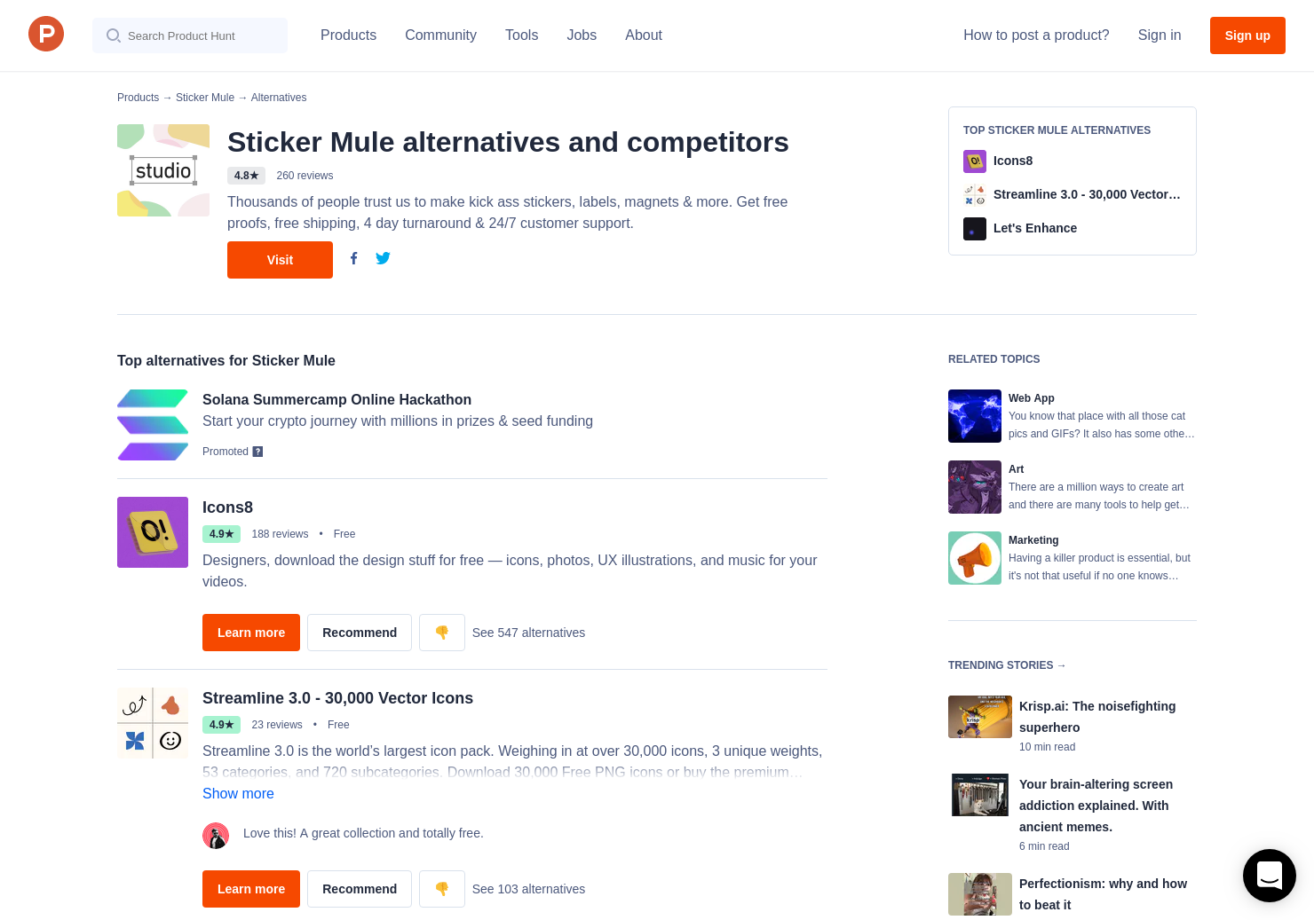 2 alternatives to clear labels by sticker mule product hunt