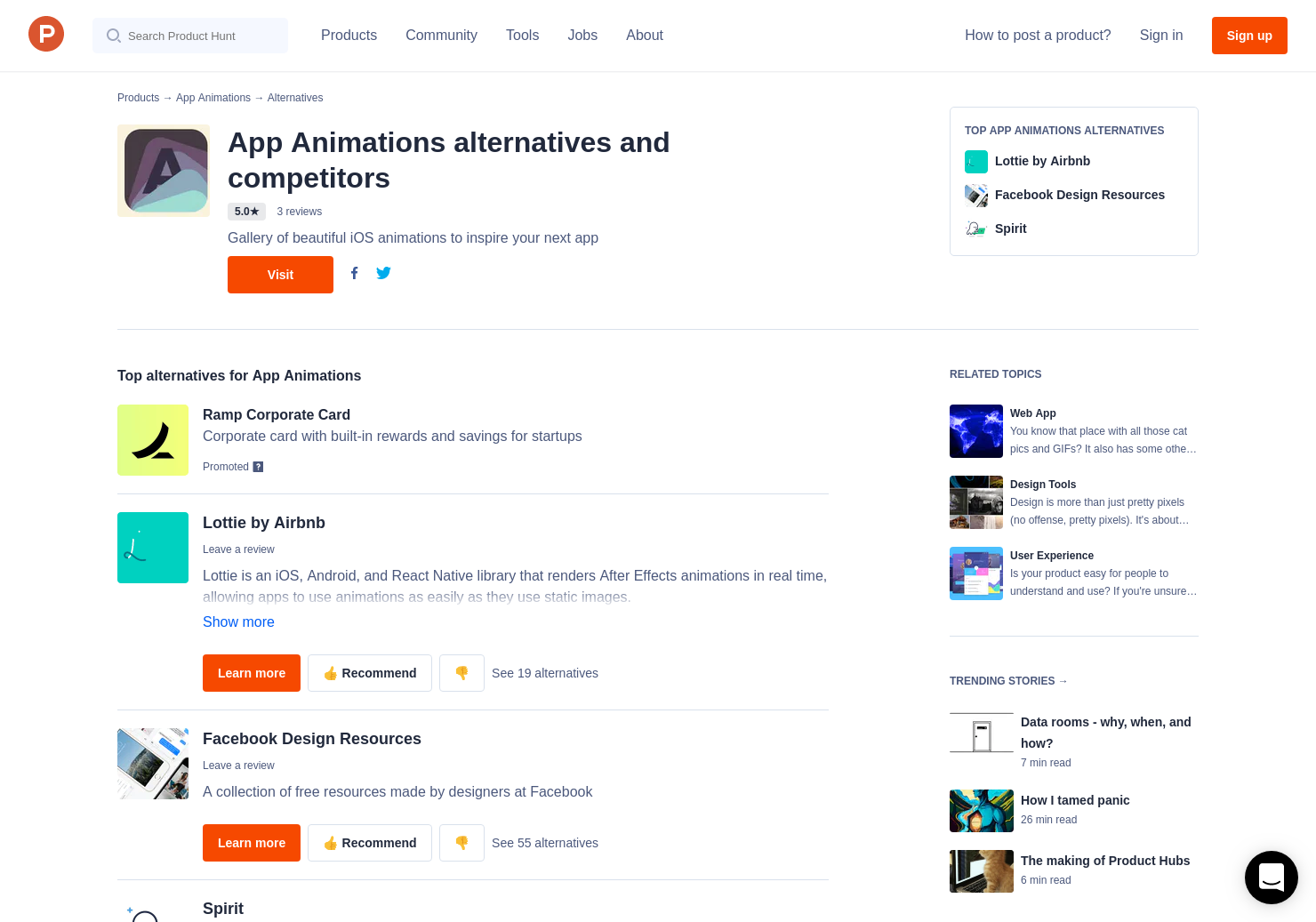 13 Alternatives to App Animations | Product Hunt