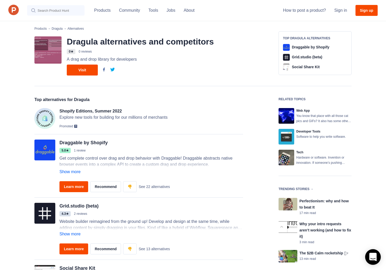 10 Alternatives to Dragula | Product Hunt