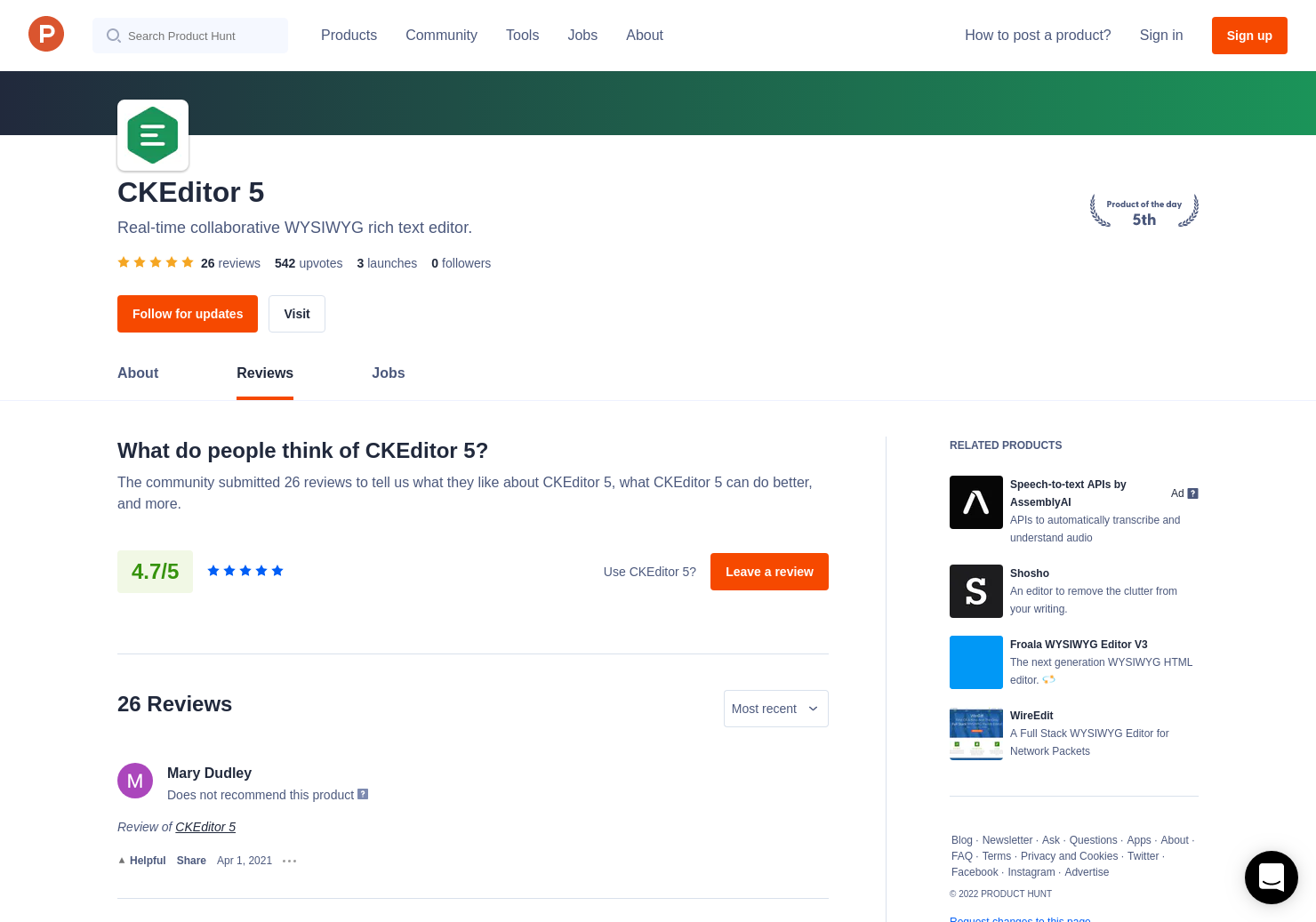 9 CKEditor 5 Reviews - Pros, Cons and Rating | Product Hunt