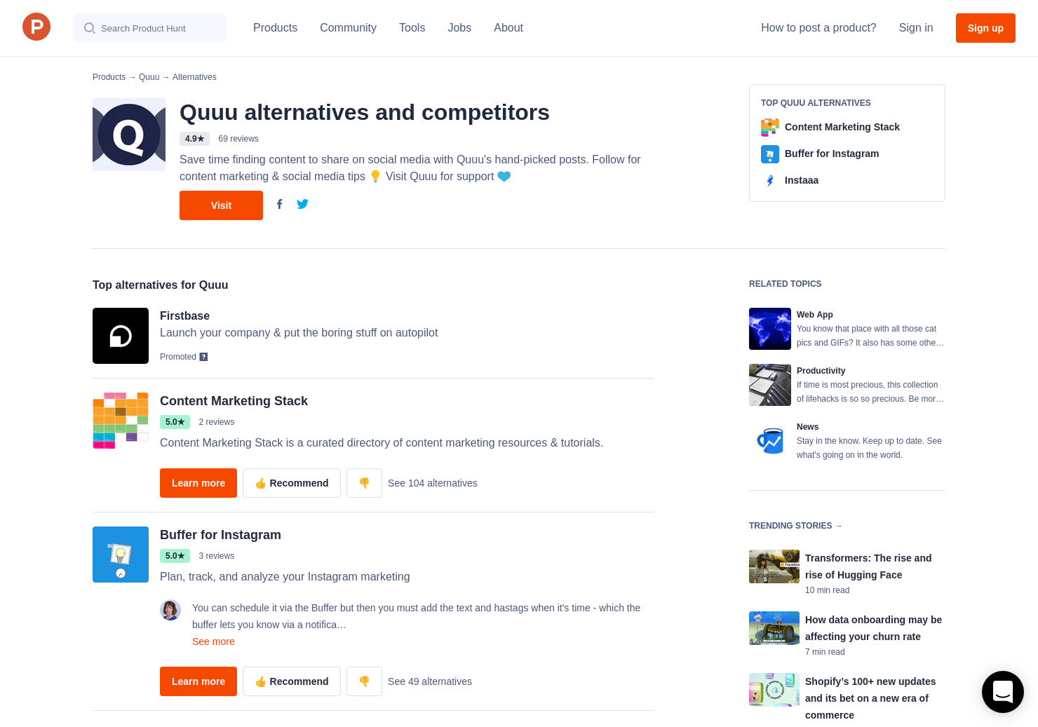 5 Alternatives to Quuu 4 0 | Product Hunt