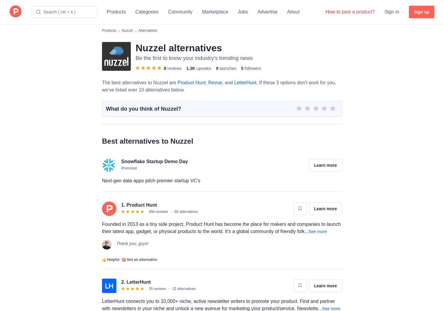 6 Alternatives to Nuzzel Media Intelligence | Product Hunt