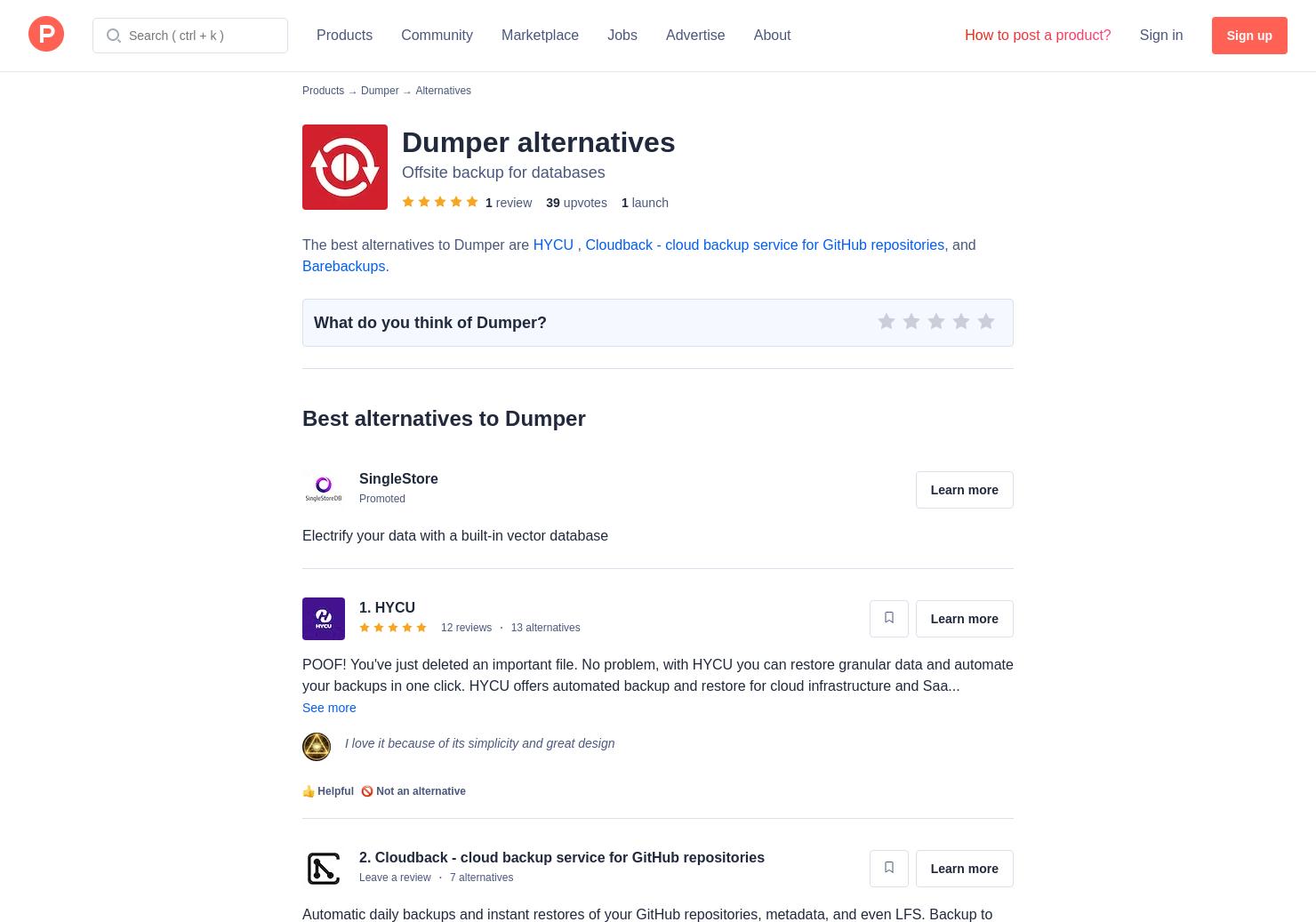 8 Alternatives to Dumper | Product Hunt