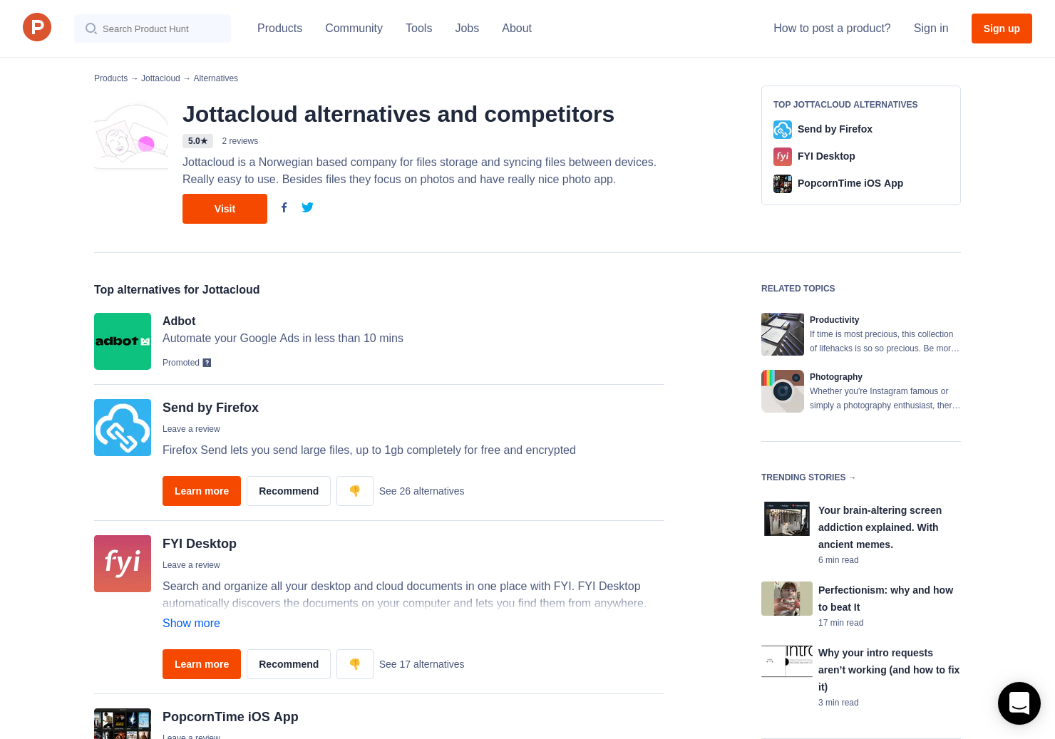 11 Alternatives to Jottacloud   Product Hunt