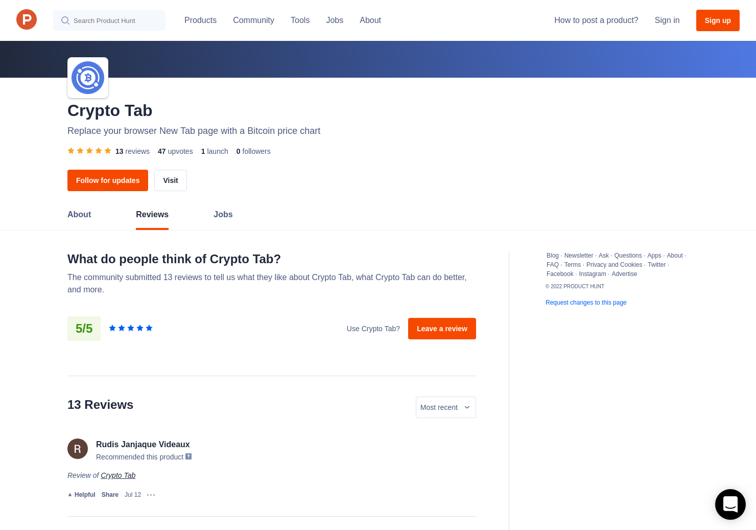 9 Crypto Tab Reviews - Pros, Cons and Rating | Product Hunt