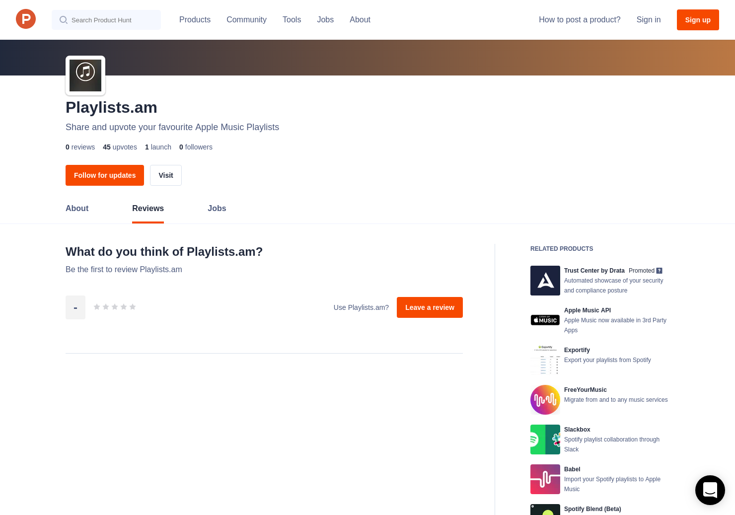Playlists am Reviews - Pros, Cons and Rating | Product Hunt
