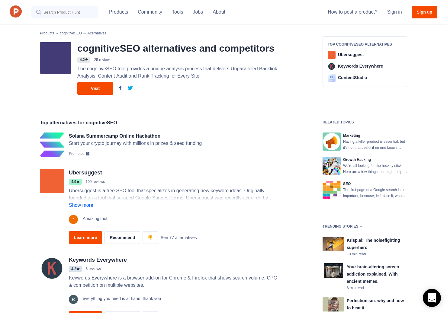 17 Alternatives to Keyword Tool & Content Assistant