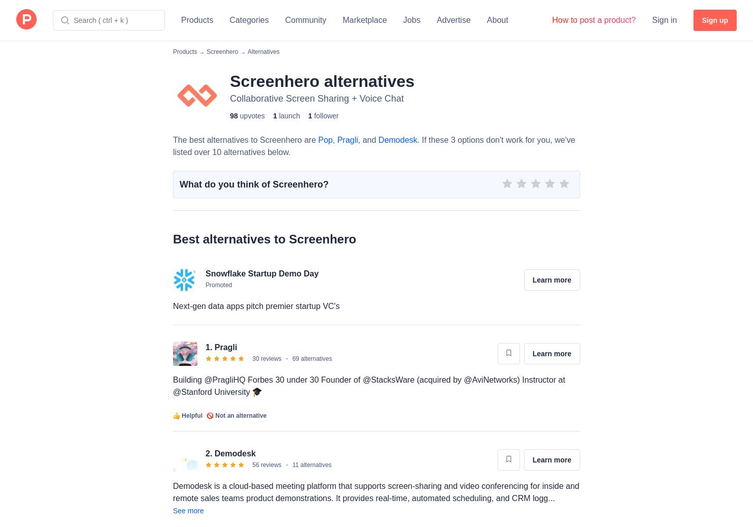 9 Alternatives to Screenhero   Product Hunt