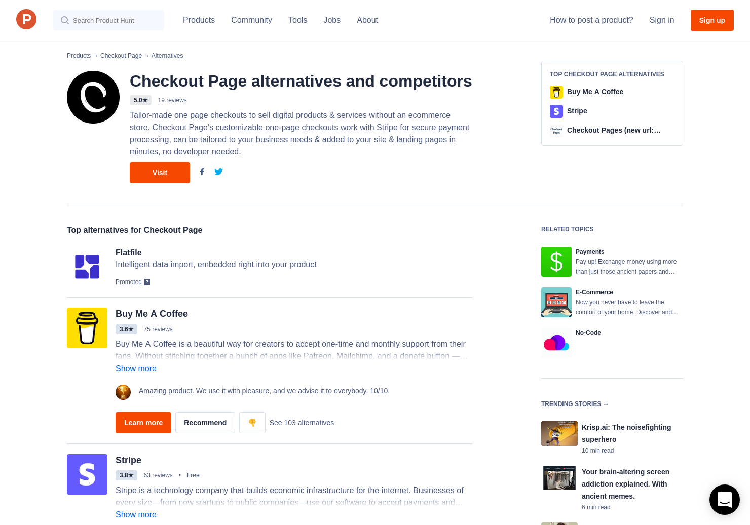 13 Alternatives to Checkout Page | Product Hunt