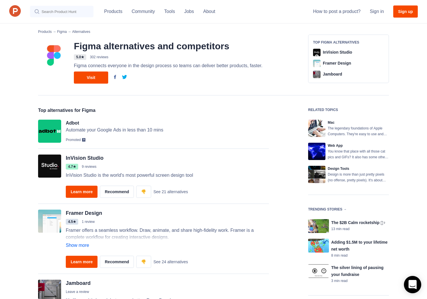 18 Alternatives to Figma Preview Release   Product Hunt