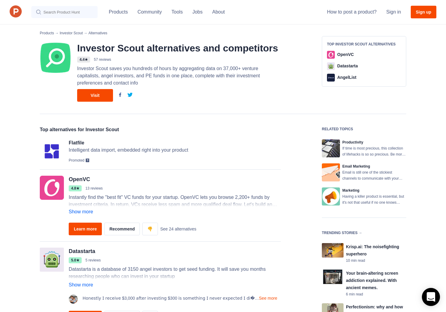 12 Alternatives to Investor Scout | Product Hunt