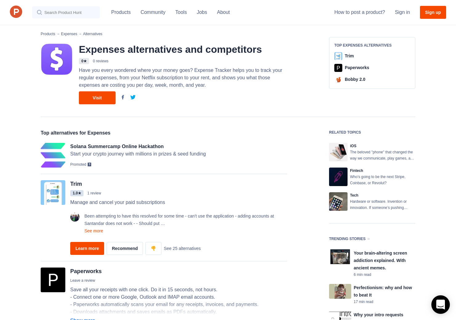 14 alternatives to expenses for iphone product hunt