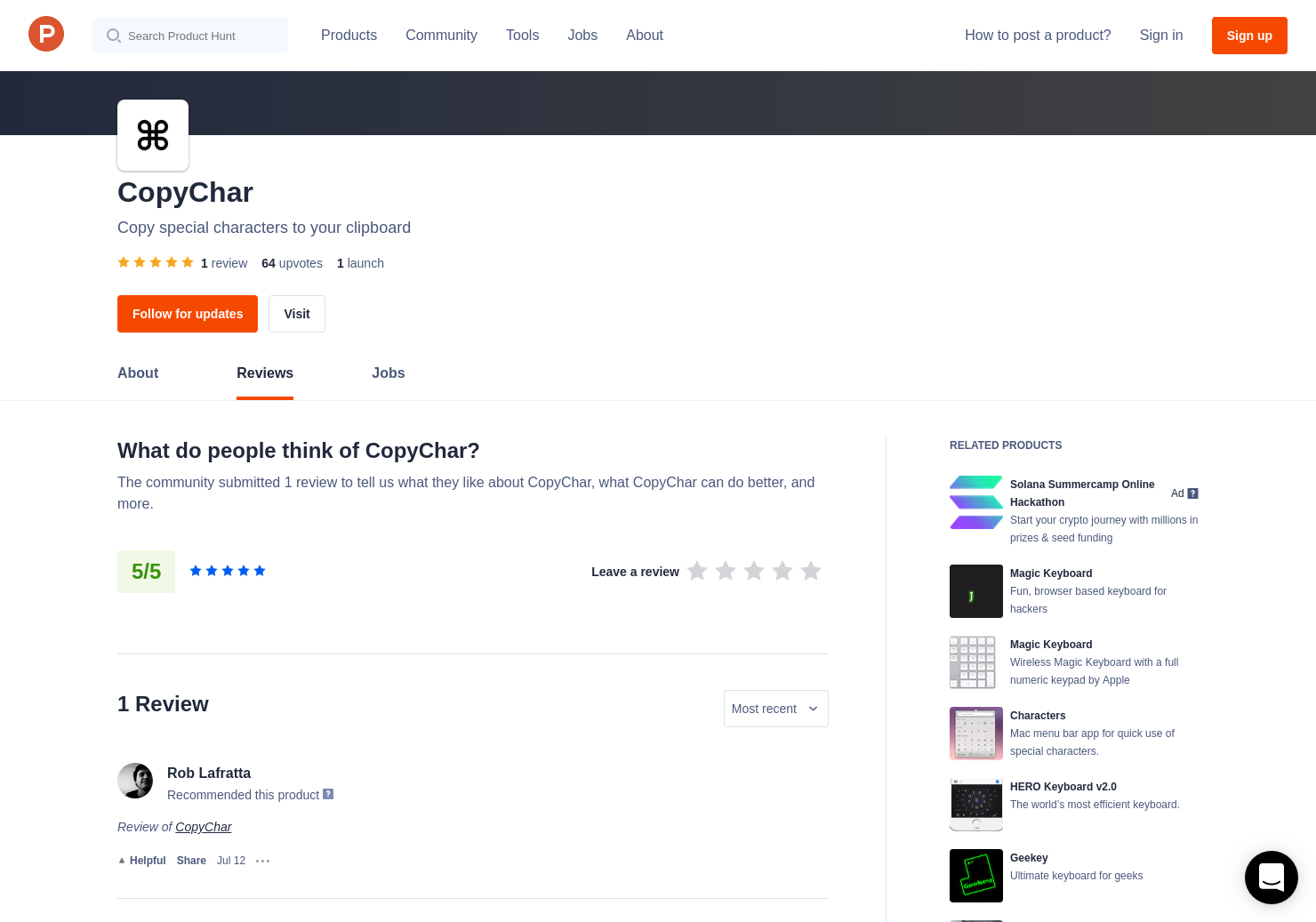 1 CopyChar Reviews - Pros, Cons and Rating | Product Hunt