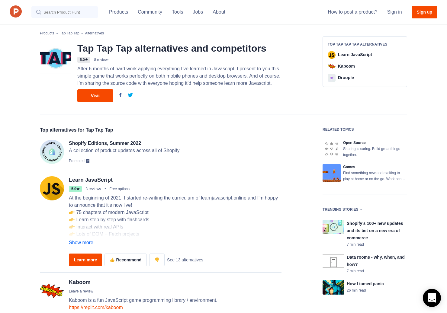 3 Alternatives to Tap Tap Tap | Product Hunt