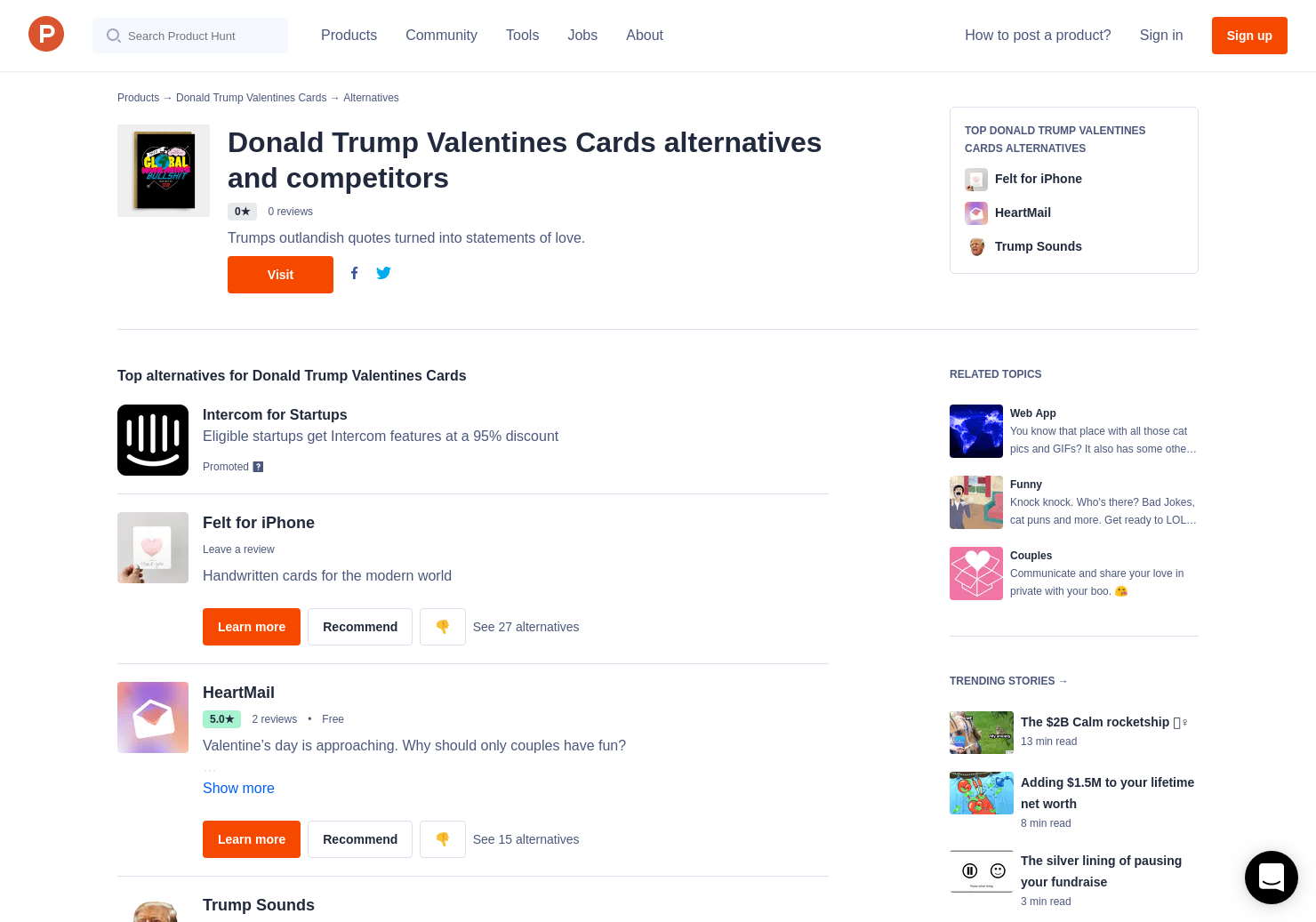 4 Alternatives To Donald Trump Valentines Cards Product Hunt