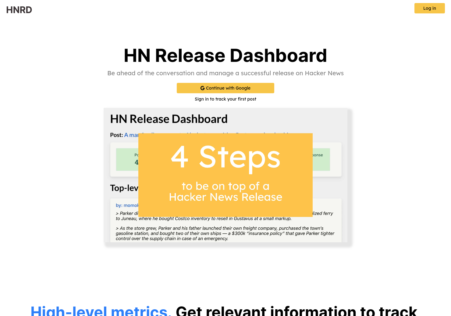 Hacker News Release Dashboard