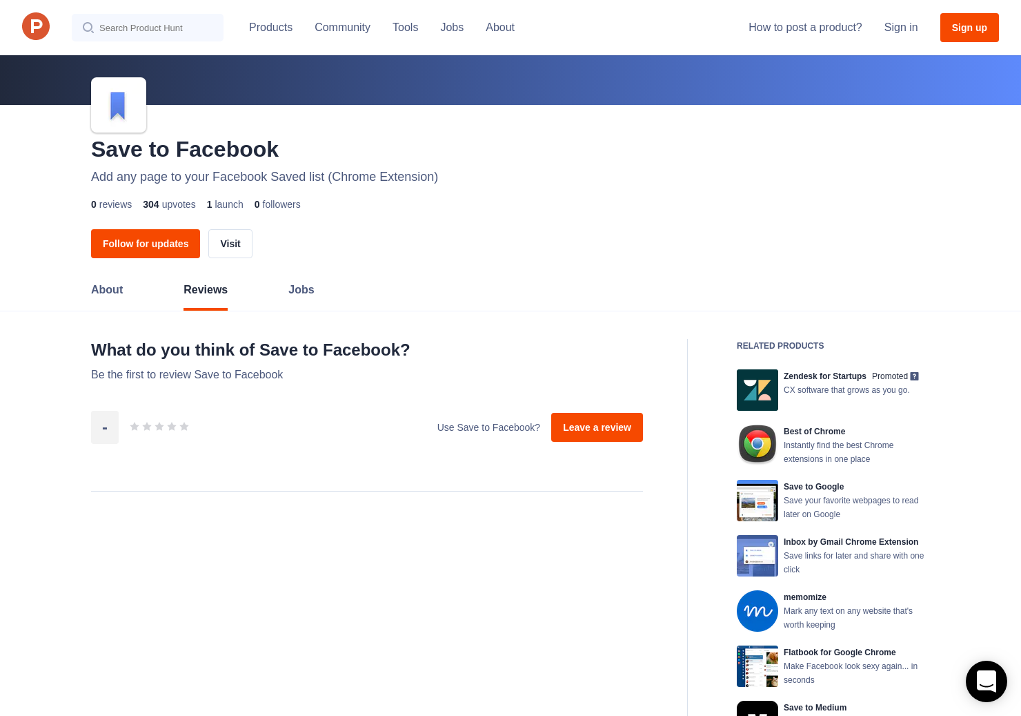 Save to Facebook Reviews - Pros, Cons and Rating   Product Hunt