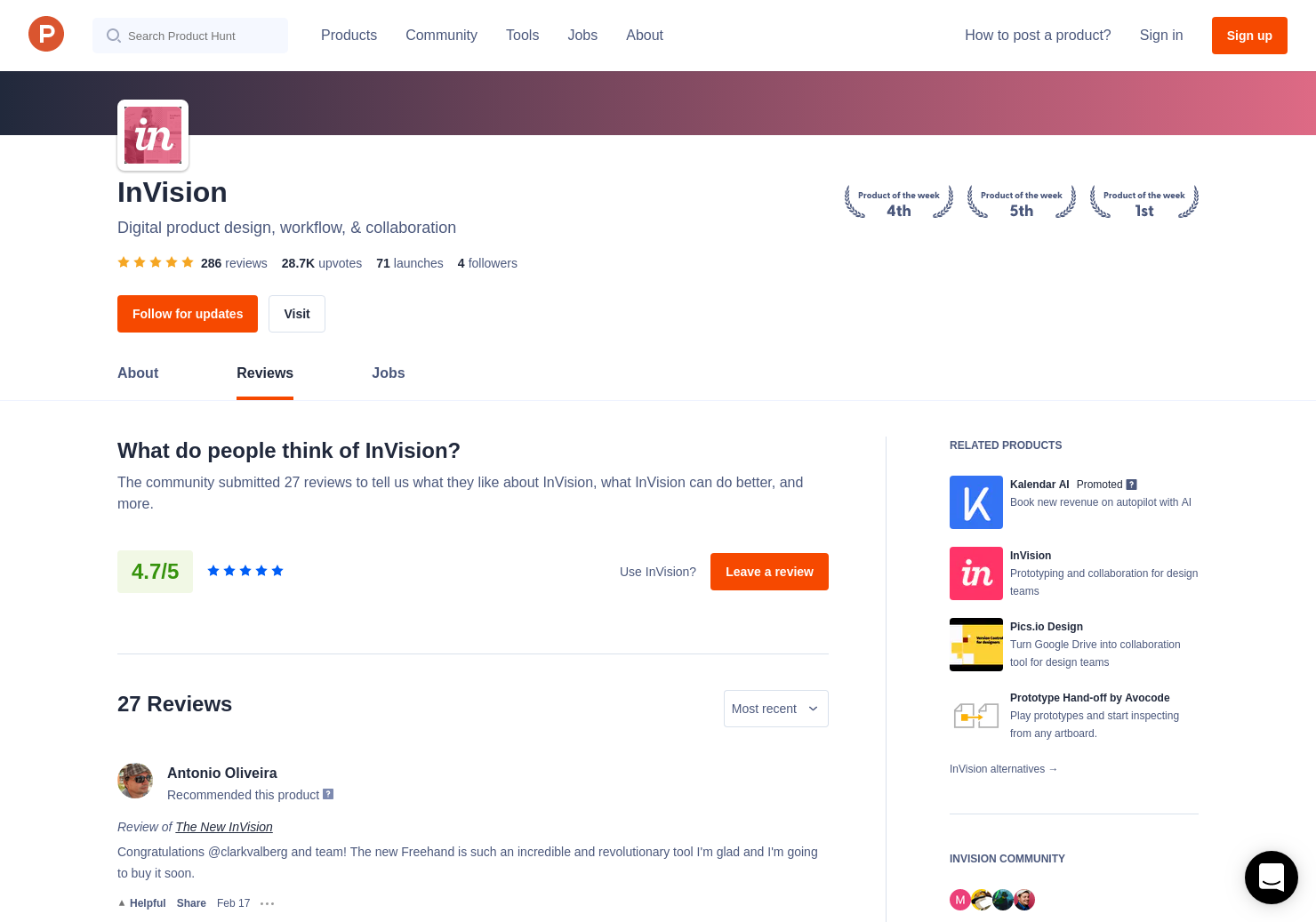 Chat UI kit by InVision Reviews - Pros, Cons and Rating