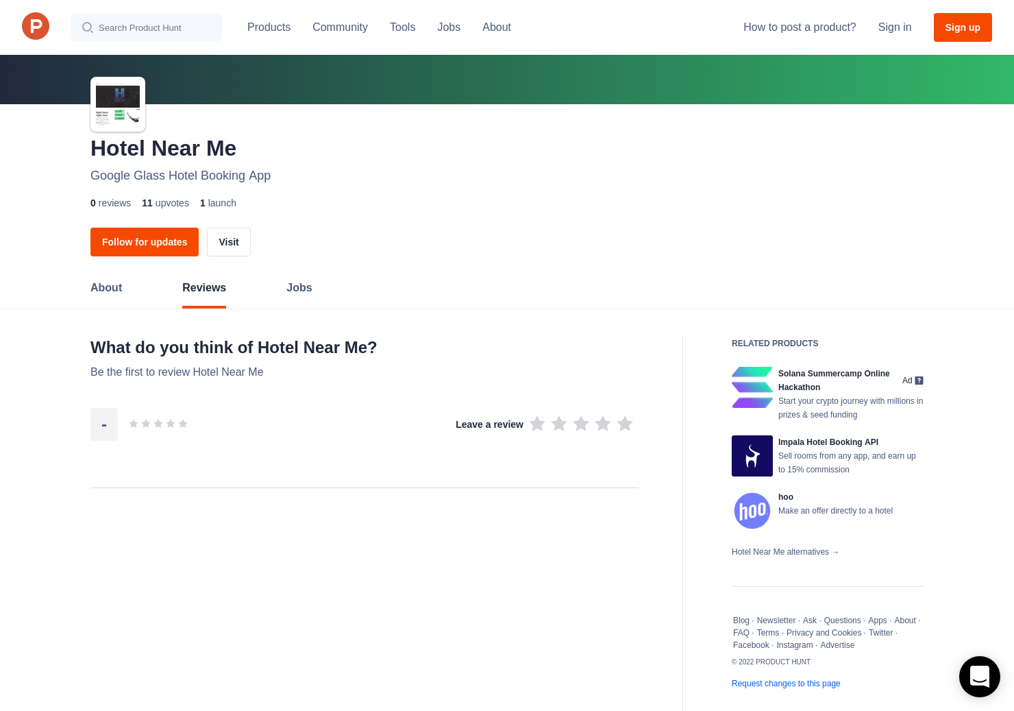 Hotel Near Me Reviews - Pros, Cons and Rating | Product Hunt