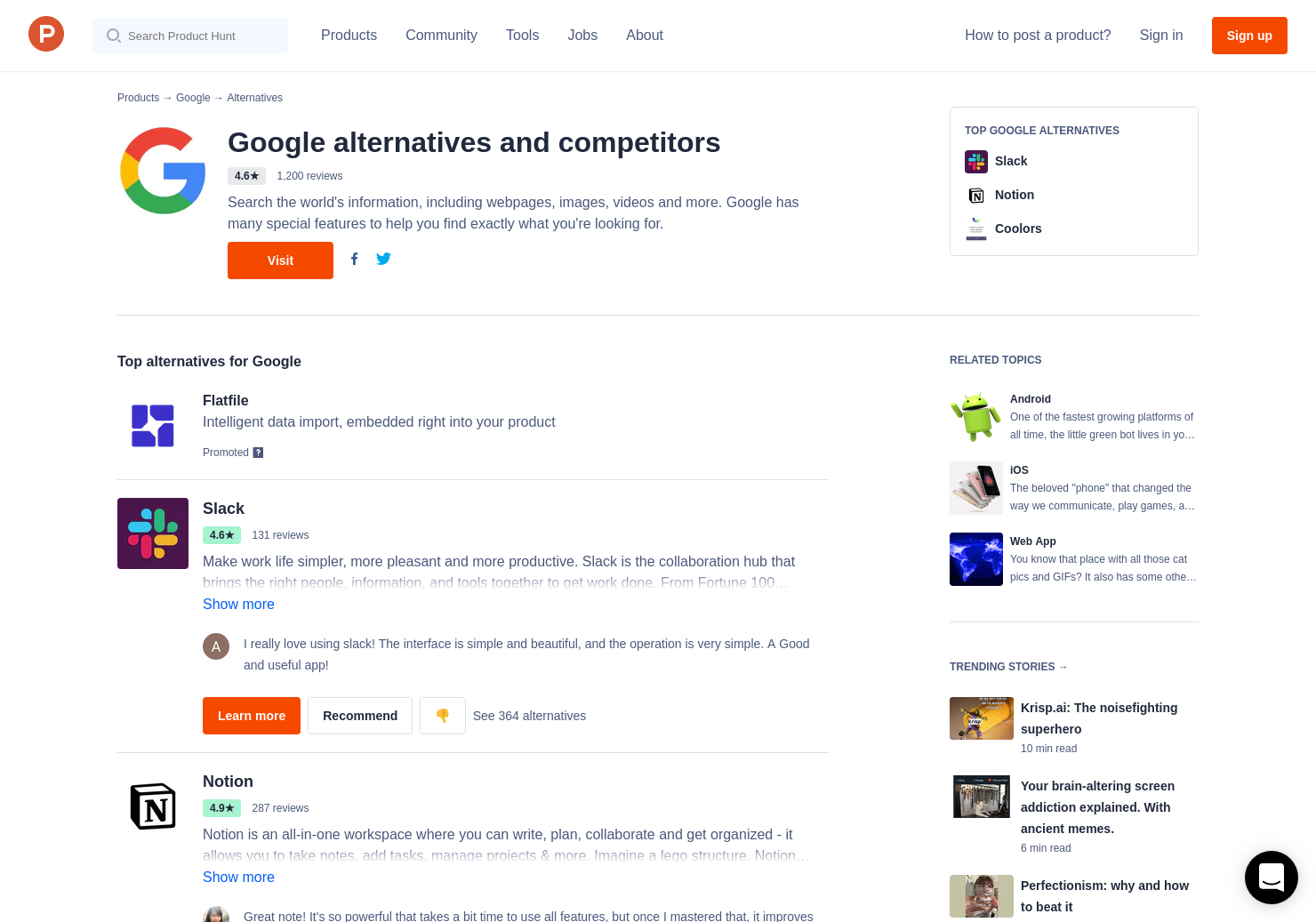 2 Alternatives to Google PageSpeed Insights | Product Hunt